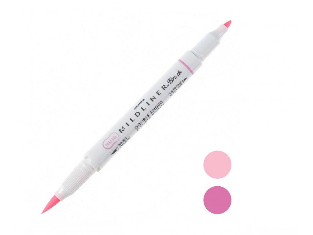 růžový zebra mildliner