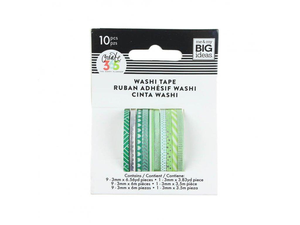 Washi pásky Happy Planner Green