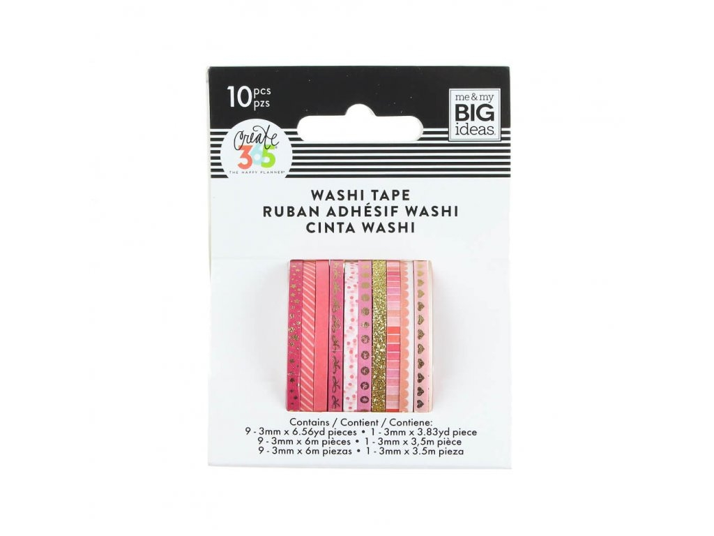 Washi pásky Happy Planner Pink