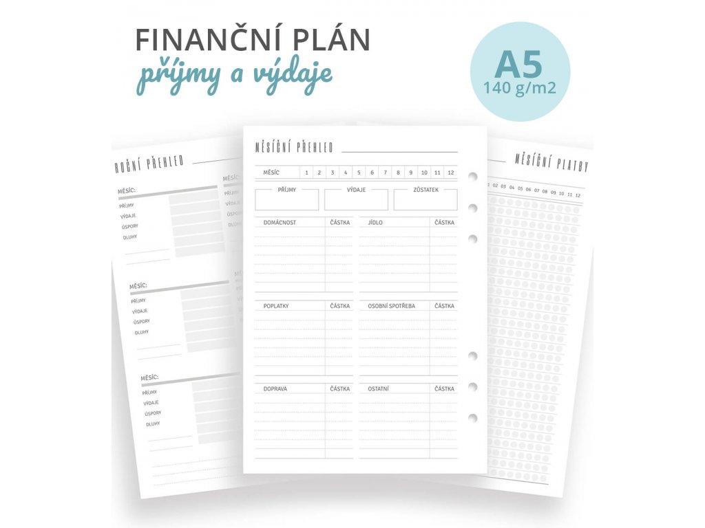 Rozšíření do diáře A5 - Finanční plán