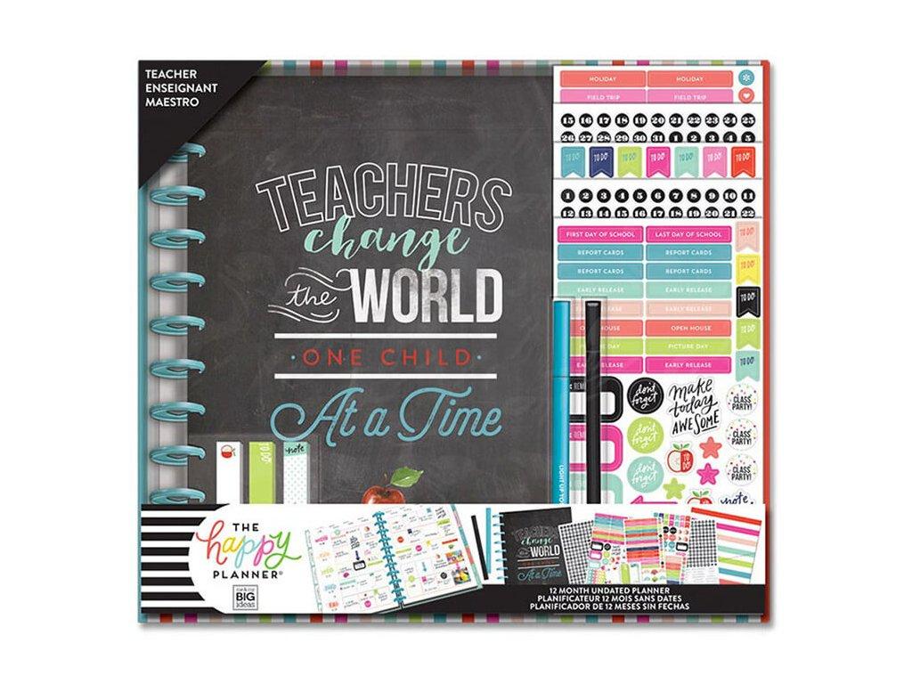 Nedatovaný učitelský diářový kit Happy Planner BIG Teacher Change Teacher