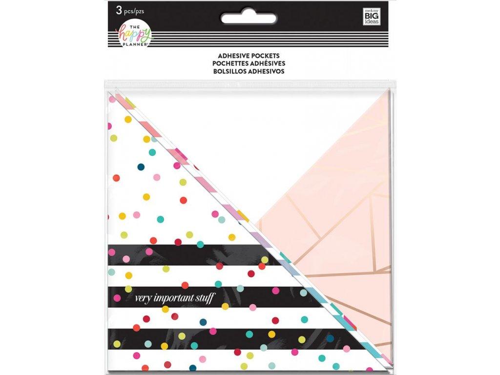 Nalepovací kapsy do diáře Happy Planner - Rainbow Stripe