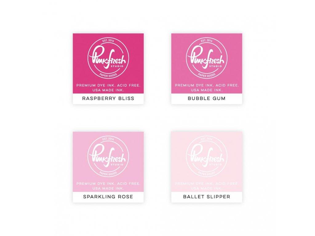 Razítkovací polštářky Pinkfresh Studio - Fairy Dust, 4 ks