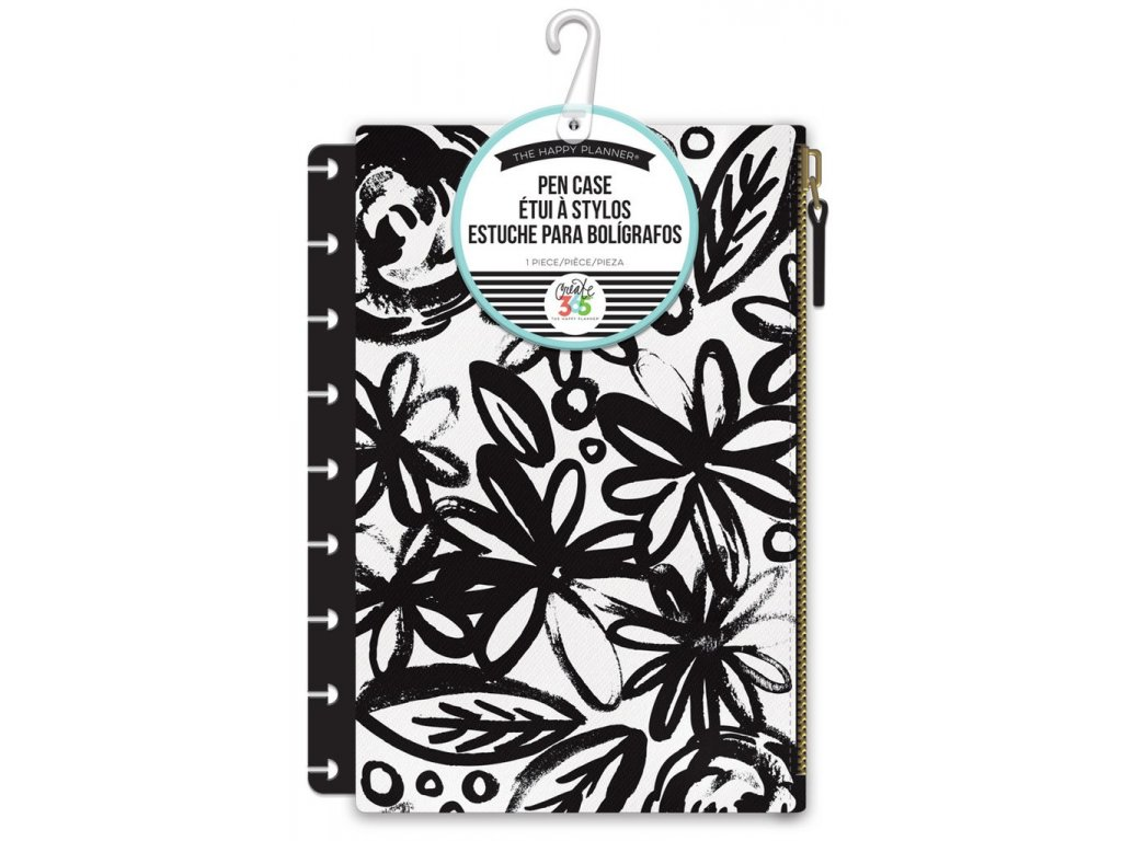 Penál Happy Planner - Black Flowers
