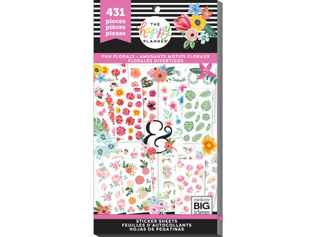 Samolepky Happy Planner Value Pack - Fun Florals