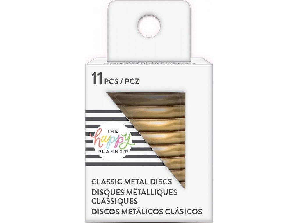 Spojovací kovové disky do diáře Happy Planner 3,2 cm - Gold