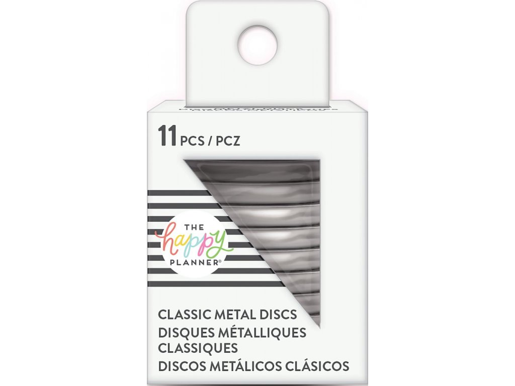 Spojovací kovové disky do diáře Happy Planner 3,2 cm - Silver