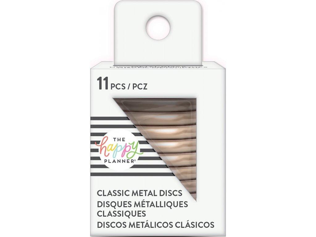 Spojovací kovové disky do diáře Happy Planner 3,2 cm - Rose Gold