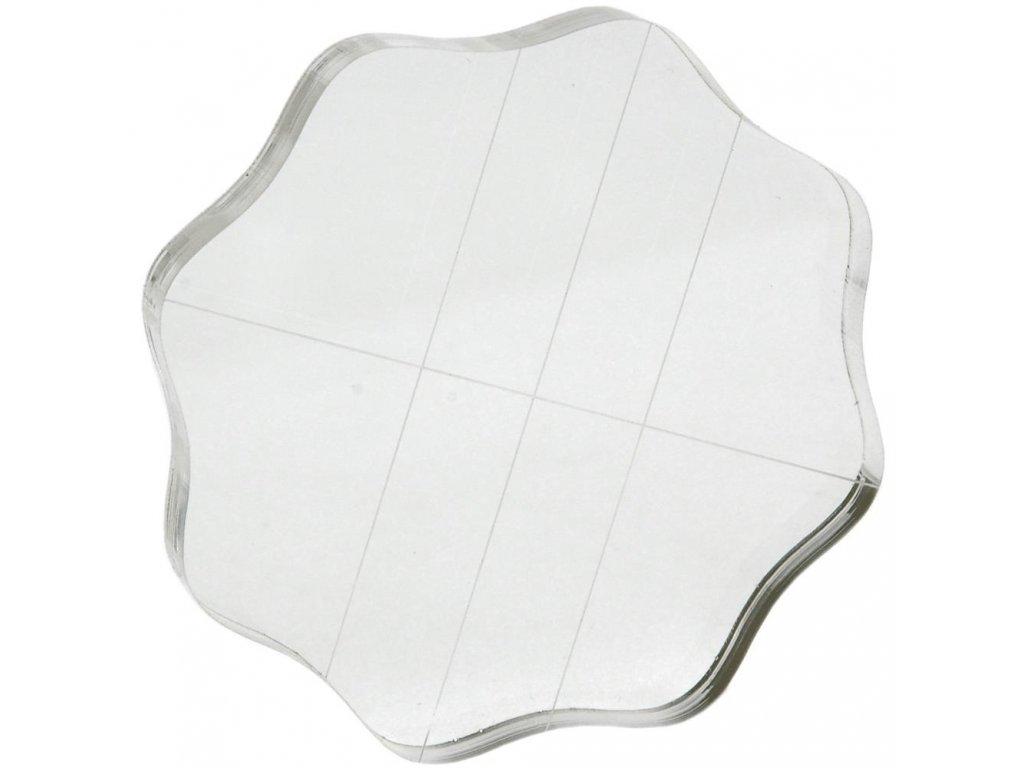Akrylátový bloček pro silikonová razítka 8,8 x 8,8 cm