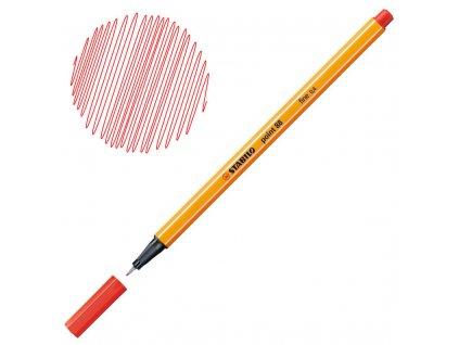 Liner STABILO Point 88 - červená