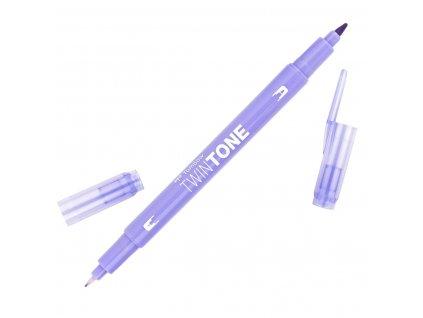 popisovač tombow twintone 21 pale purple