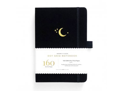 zápisník tečkovaný černý archer and olive