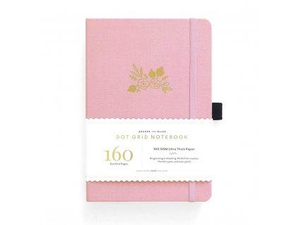 růžový zápisník bullet journal archer and olive