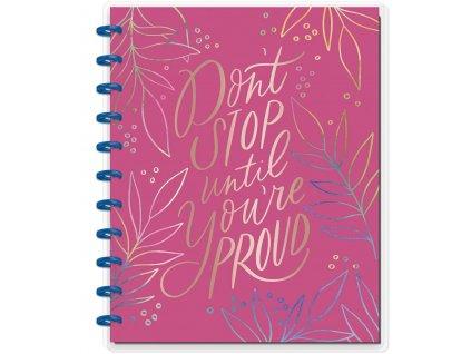 Zápisník Happy Notes BIG Don't Stop Until You're Proud