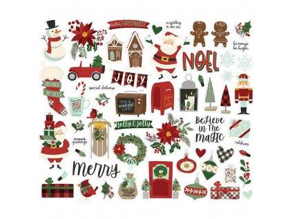 Papírové výseky Simple Stories Jingle All The Way