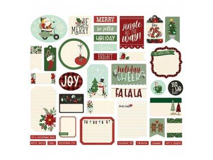 Papírové výseky Simple Stories Jingle All The Way 2