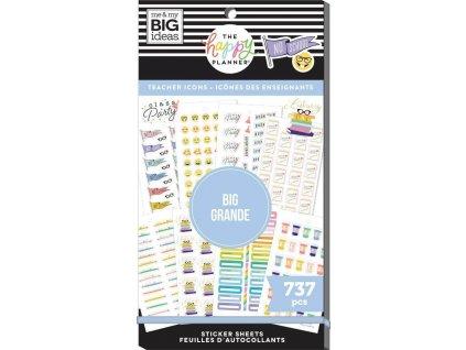 Samolepky Happy Planner BIG Value Pack Icon Teacher