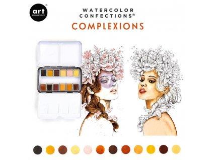 akvarelove barvy art philosophy complexions sada 12ks