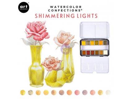 akvarelove barvy art philosophy shimmering lights sada 12ks