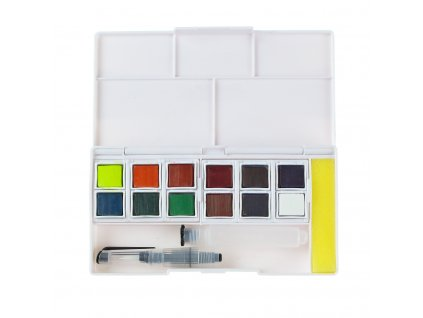 akvarelové barvy Derwent Inktense 12 ks