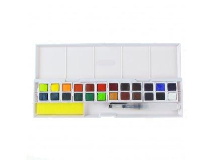 akvarelové barvy Derwent Inktense 24 ks