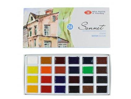 akvarelové barvy Sonner 24 ks