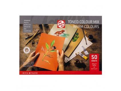 Skicák Royal talens barevné papíry warm tones