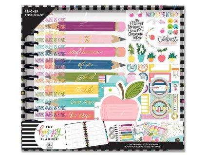 Nedatovaný učitelský diářový kit Happy Planner BIG Teacher's Influence