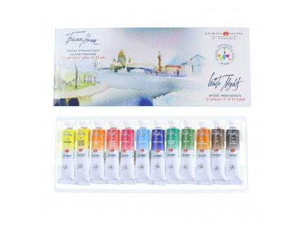akvarelové barvy v tubě 12 ks