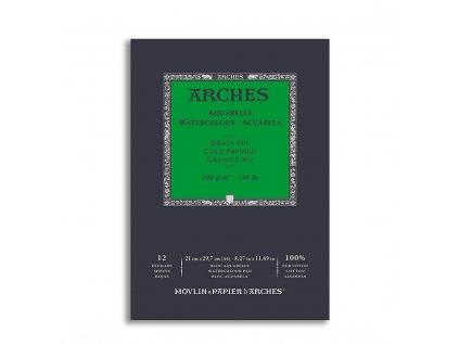 Skicák bavlněný akvarel Arches cold pressed A4