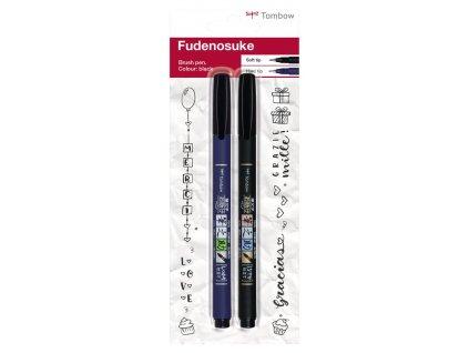 Štětcové popisovače Tombow Fudenosuke, sada 2 ks