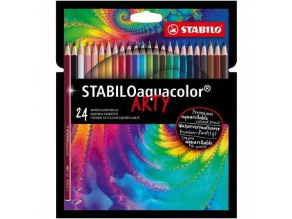 Akvarelové pastelky Stabilo Aquacolor 24 ks