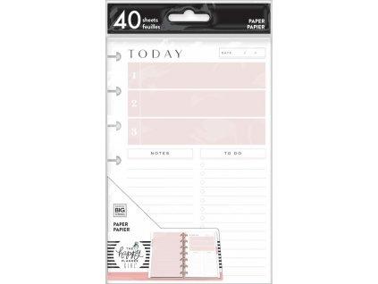 Poznámkové listy Happy Planner MINI Daily Schedule & To Dos