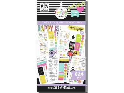 Samolepky Happy Planner Value Pack Happy Goals