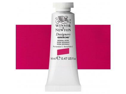 kvasova barva winsor newton swatch bengal rose