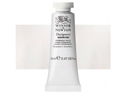 kvasova barva winsor newton swatch permanent white