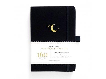 tečkovaný zápisník černý archer and olive