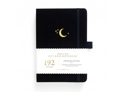 tečkovaný zápisník 192 stran crescent moon