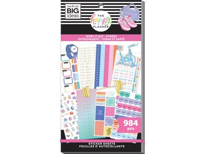 Samolepky Happy Planner Value Pack Work It Out