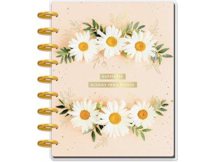 Motivační zápisník Happy Planner CLASSIC Pressed Florals