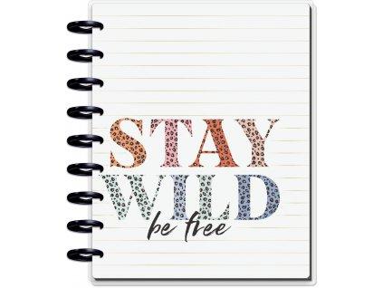 Motivační zápisník Happy Planner CLASSIC Colorful Leopard