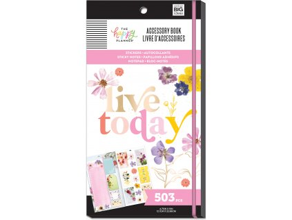 Samolepky + bločky Happy Planner Accessory Book Pressed Florals