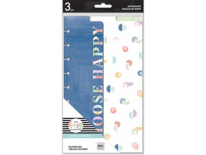 Plastové rozdělovače Happy Planner CLASSIC Painterly Pastels