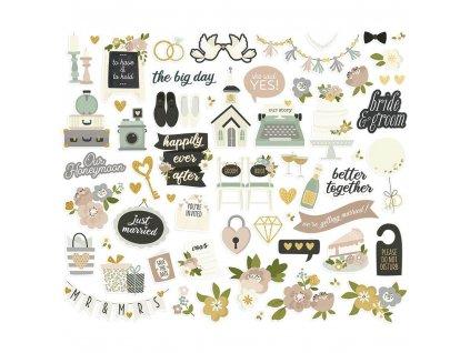Papírové výseky Simple Stories Happily Ever After Bits