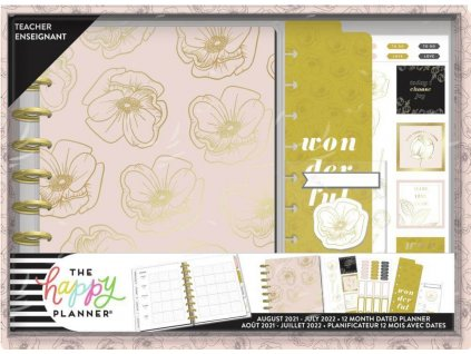 Diářový kit pro učitele Happy Planner CLASSIC Fancy Florals