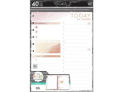 Poznámkové listy Happy Planner BIG Daily Schedule and Gratitude