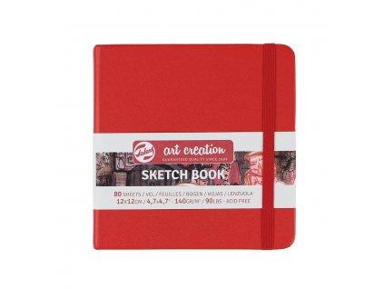 Skicák Art Creation červený, 140 gm2, 80 stran 12 x 12 cm