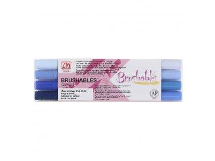 Sada štětcových fixů Kuretake Brushables blue