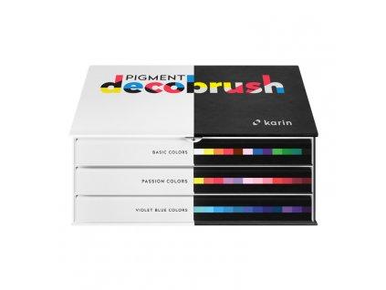 Sada akrylových fixů Karin DecoBrush Pigment designer set