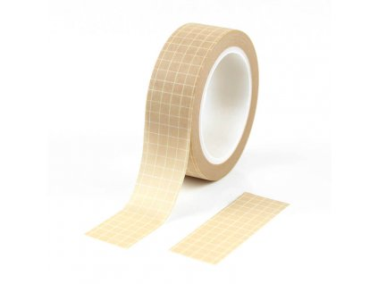 Washi páska mřížka béžová